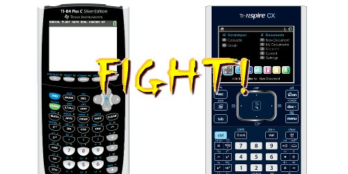 TI-Nspire CX vs TI-84 Plus C small