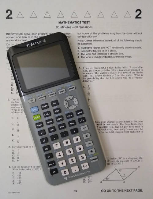 Calculators for the ACT
