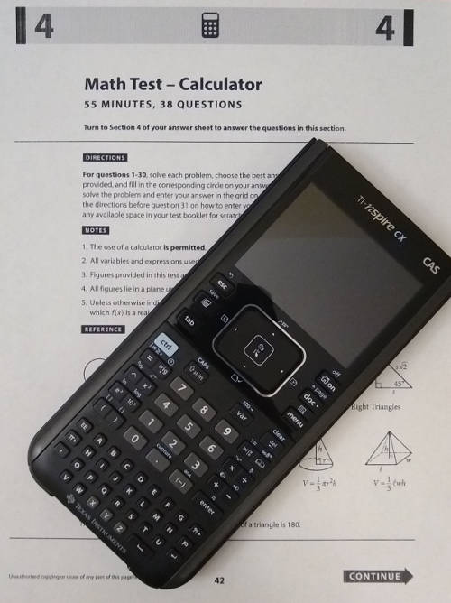 Calculators for the SAT